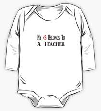 Lehrer Baby Body Langarm