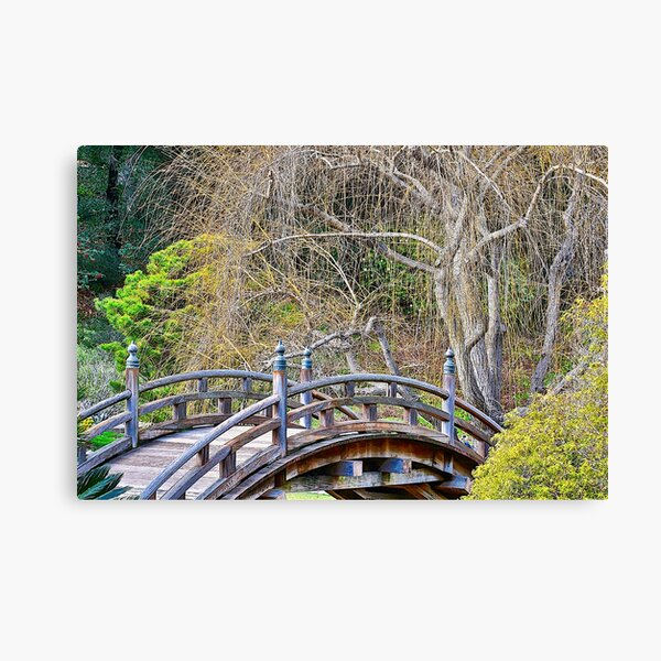 Japanese Bridge and Gardens Canvas Print