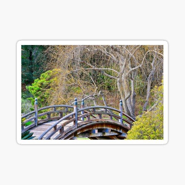Japanese Bridge and Gardens Sticker