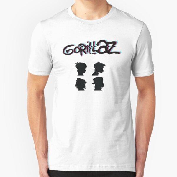 Gorillaz Virtual Band Demond Skull Men Baseball T-shirt