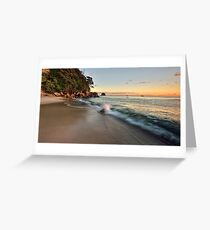Waimama Bay Dawn Splash Greeting Card