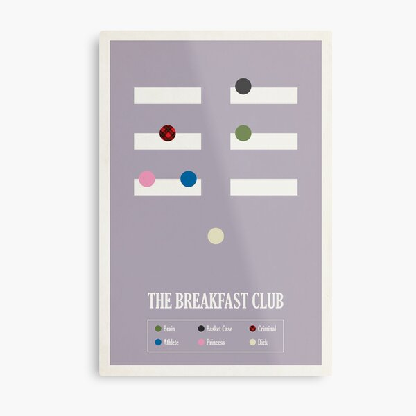 The Breakfast Club Metal Print