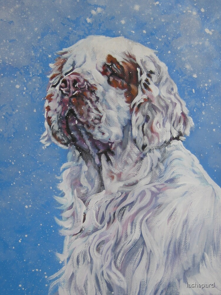 Clumber Spaniel Fine Art Painting by lashepard