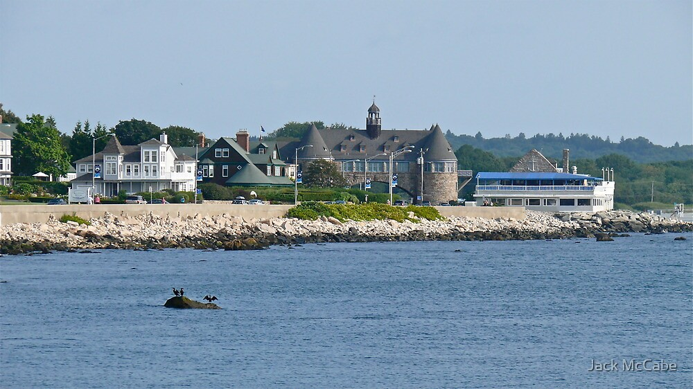 Ocean Road - Narragansett Towers - Coast Guard House by Jack McCabe