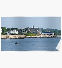 Ocean Road - Narragansett Towers - Coast Guard House Poster
