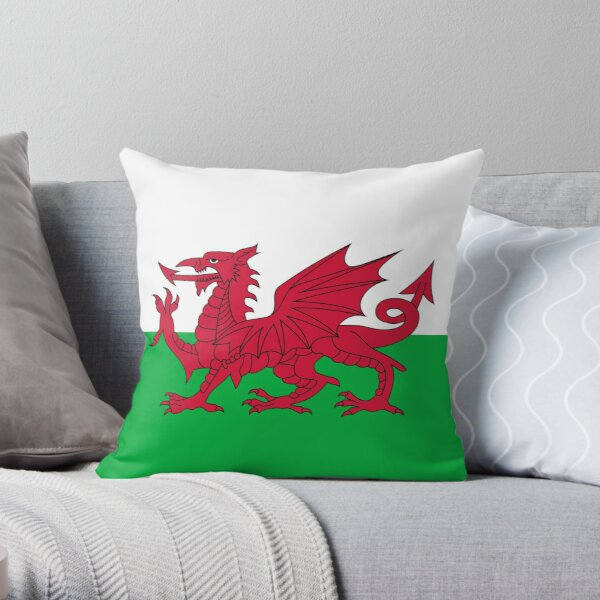 Flag of Wales - Welsh Flag Throw Pillow