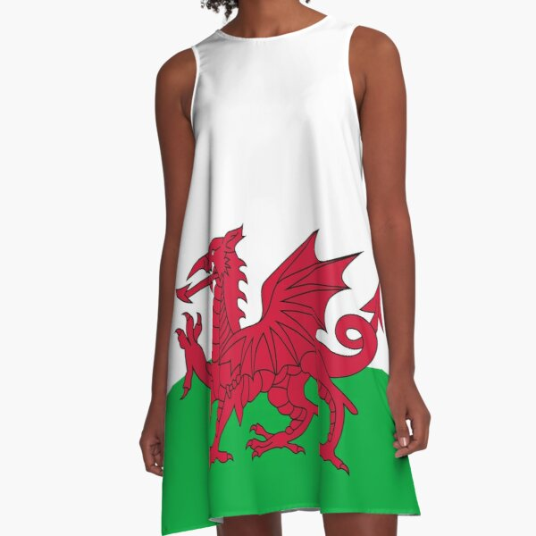 National flag of Wales - High Quality A-Line Dress