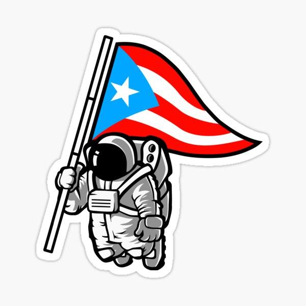 Puerto Rico Gifts Boricua En La Luna Flag Souvenirs Sticker