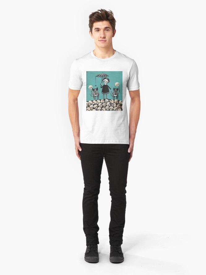 Alternate view of Day of the Dead  Slim Fit T-Shirt