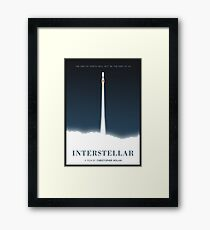 Interstellar film poster Framed Print