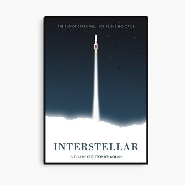Affiche du film interstellaire Impression sur toile