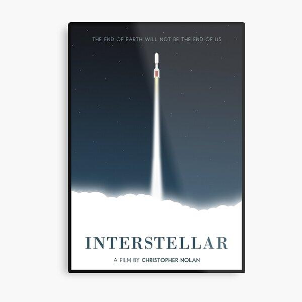 Interstellar film poster Metal Print