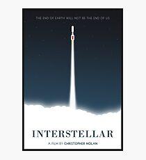 Interstellares Filmplakat Fotodruck