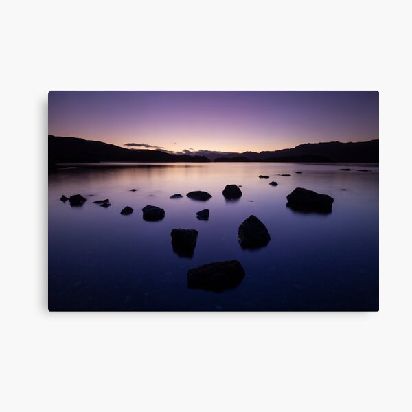 sunrise, loch morar Canvas Print