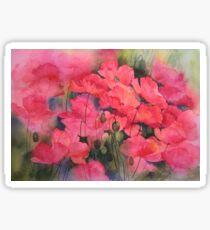 Scarlet Poppies Sticker