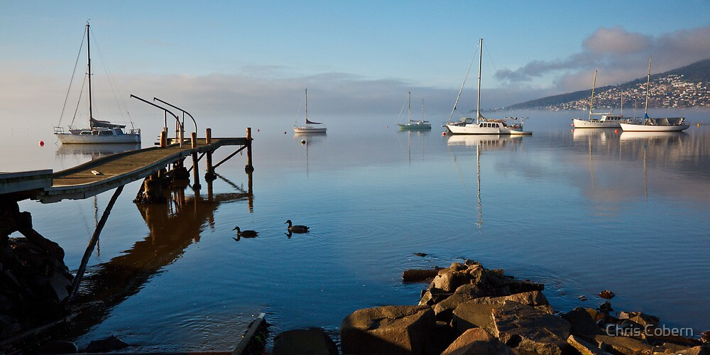 Boats off Battery Point, Hobart, Tasmania #2 by Chris Cobern