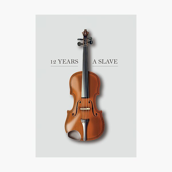 12 Years A Slave - Alternative Movie Poster Photographic Print