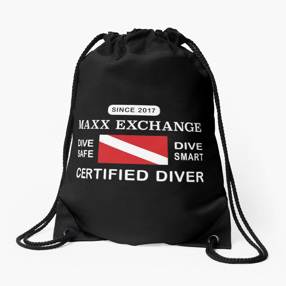 Maxx Exchange Certified Diver Wetsuit Snorkel. Drawstring Bag