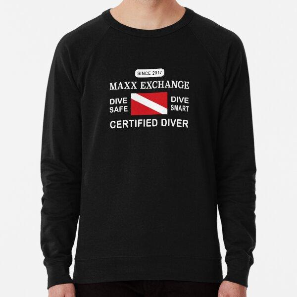 Maxx Exchange Certified Diver Wetsuit Snorkel. Lightweight Sweatshirt