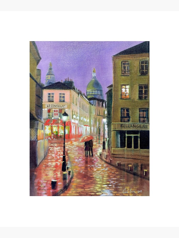 Montmartre Paris painting by gordonbruce