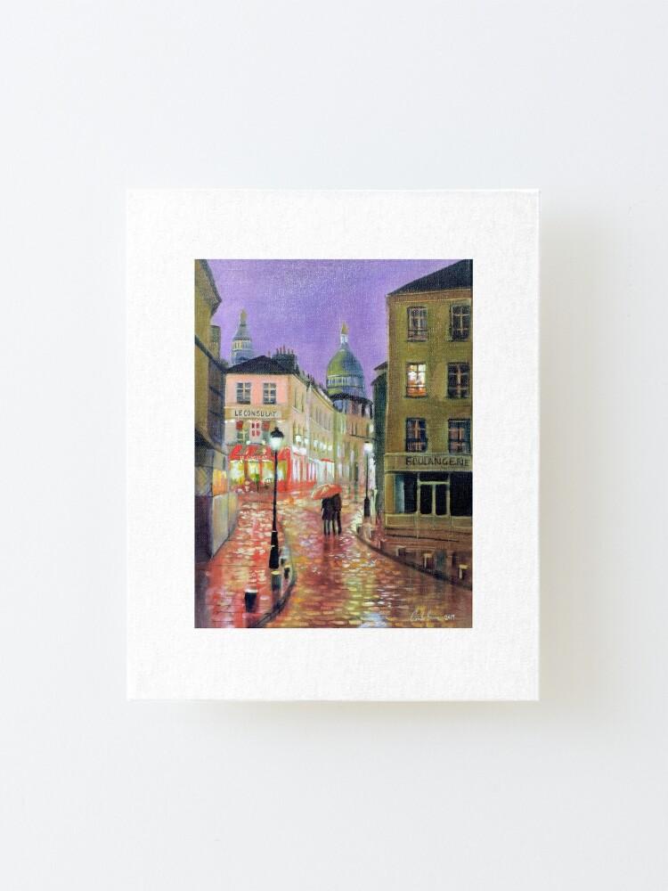 Alternate view of Montmartre Paris painting Mounted Print