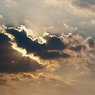 Sun beams bursting through the clouds by Maxim Mayorov