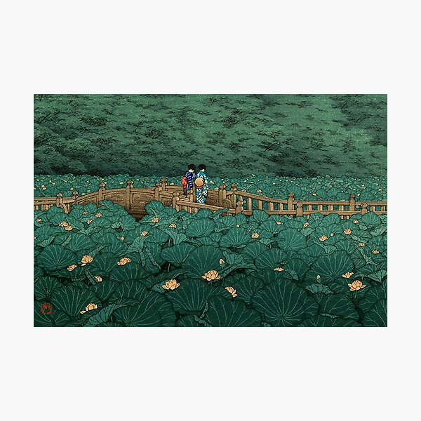 Shiba Benten ike - Hasui Kawase Photographic Print