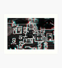 Anaglyph Circuitry 1 Art Print