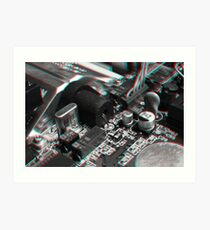 Anaglyph Circuitry 7 Art Print