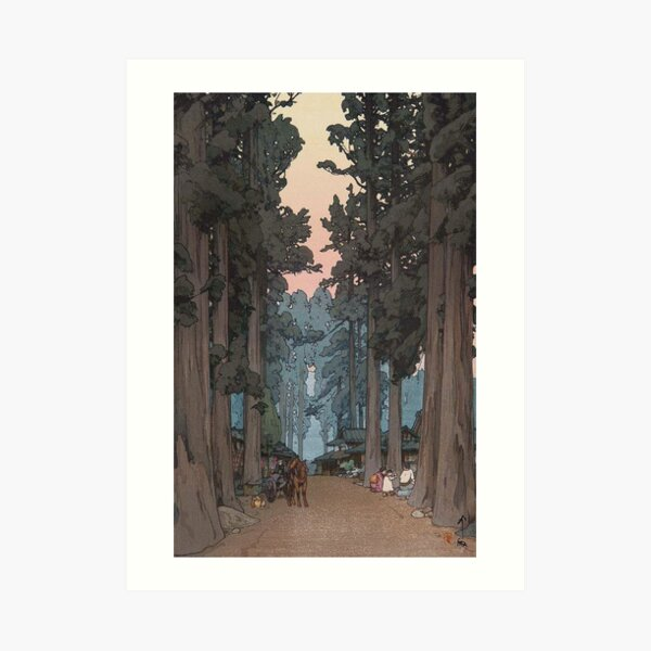 Avenue of Sugi trees - Yoshida Hiroshi Art Print