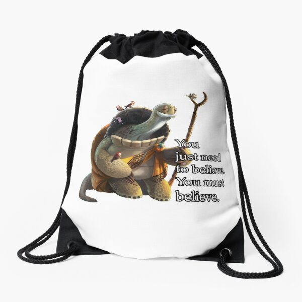 Master Oogway - Must Believe Quote Drawstring Bag