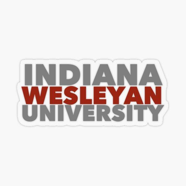 Indiana Wesleyan University  Transparent Sticker