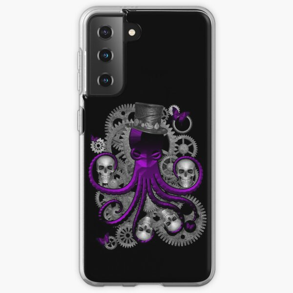Steampunk Octopus (purple) Samsung Galaxy Soft Case