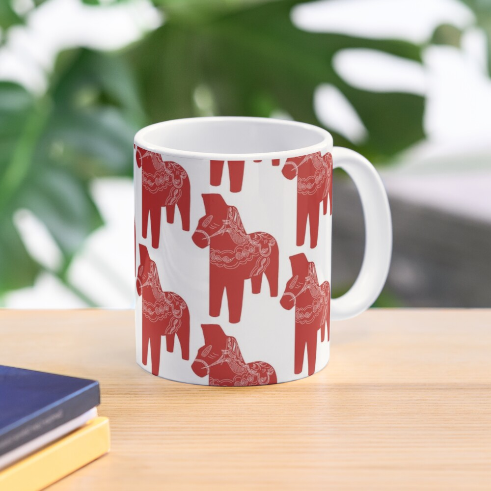 Simply Red Dala Horse Mug