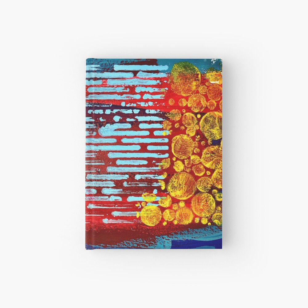 Yellow Flowers on a Blue Sky Hardcover Journal