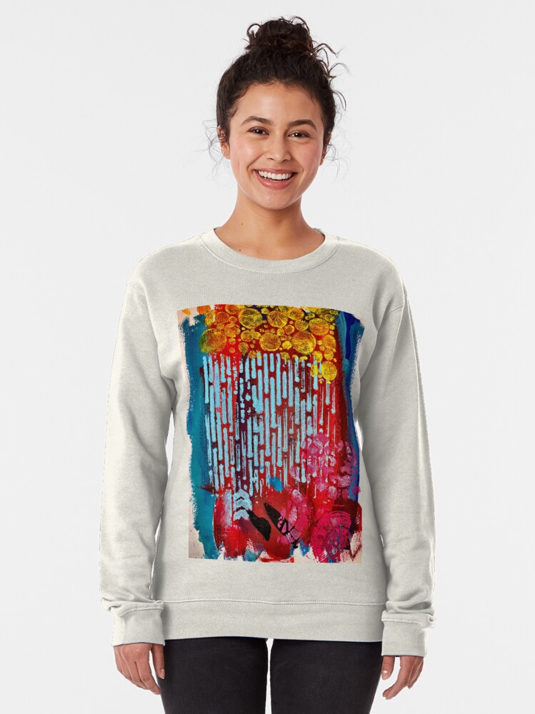 Alternate view of Yellow Flowers on a Blue Sky Pullover Sweatshirt