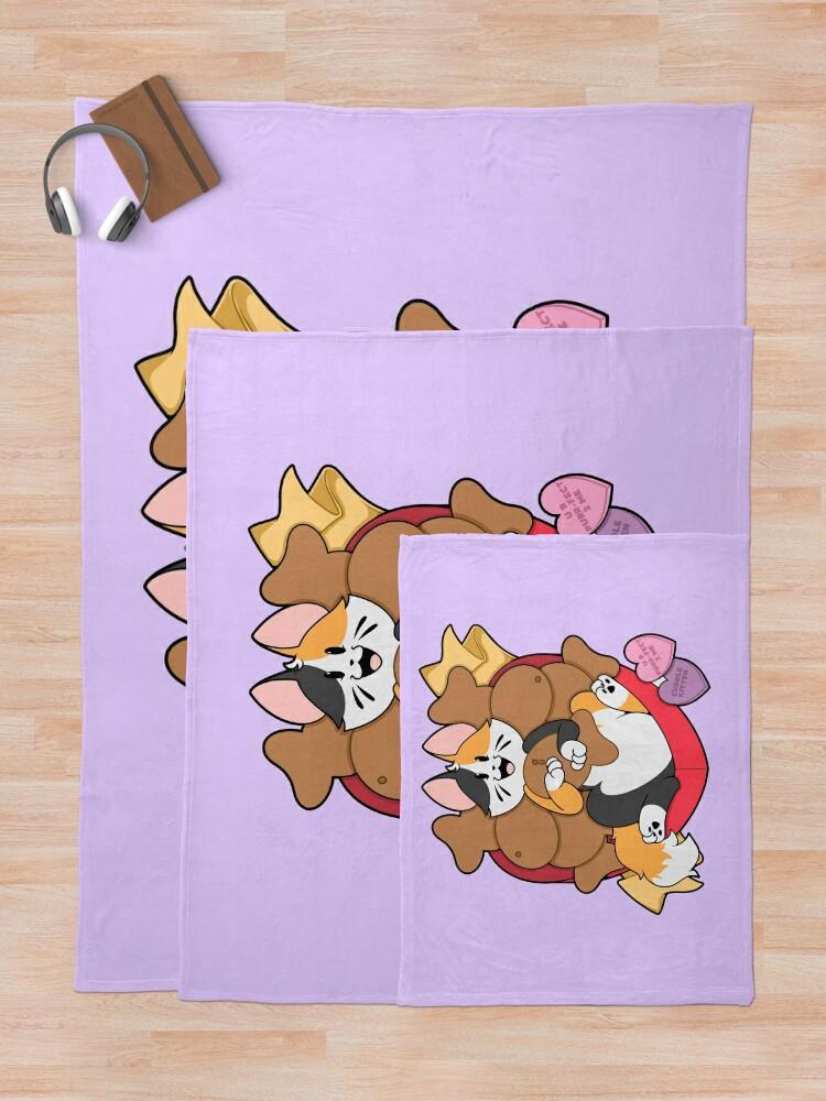 Alternate view of Valentines Box of Chocolates —Calico (Longhair) Throw Blanket