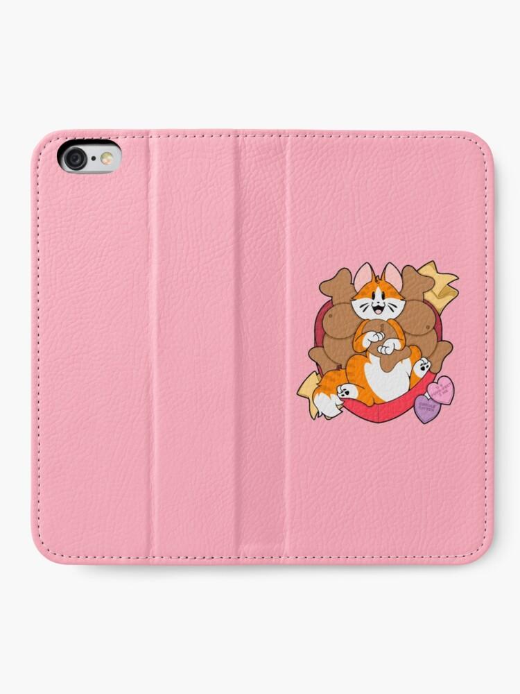 Alternate view of Valentines Box of Chocolates — Orange Striped Cat (Longhair) iPhone Wallet