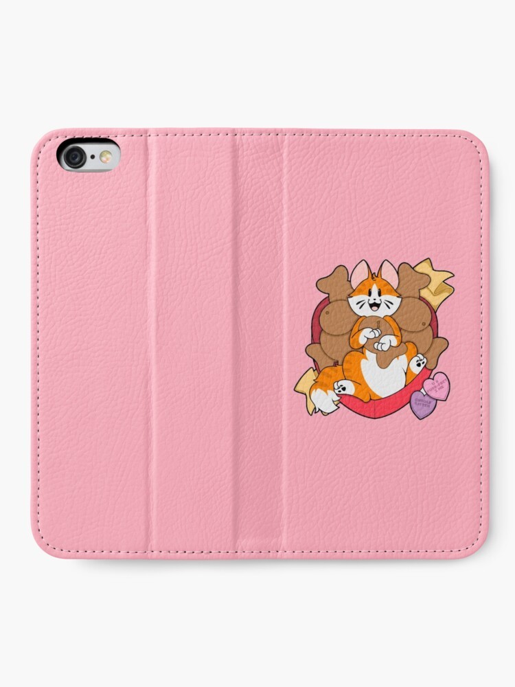 Alternate view of Valentines Box of Chocolates — Orange Striped Cat (Longhair) iPhone Wallet