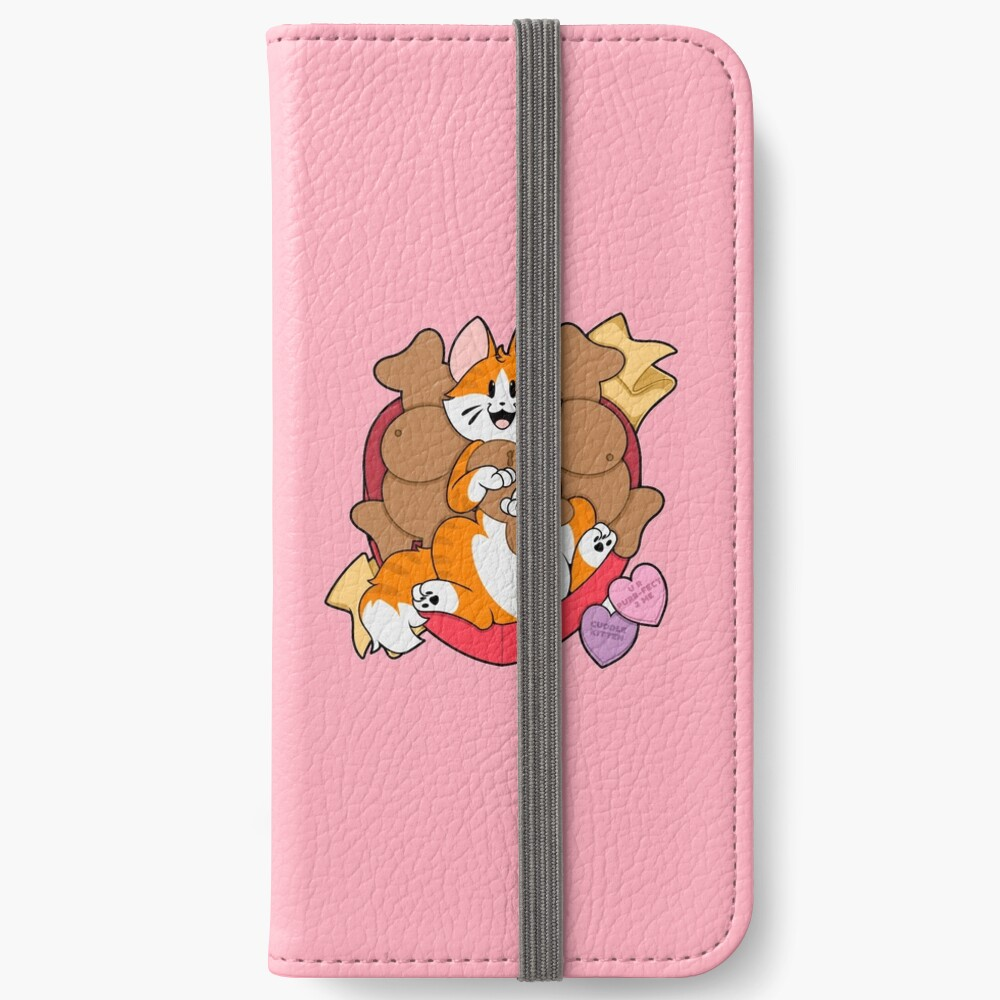Valentines Box of Chocolates — Orange Striped Cat (Longhair) iPhone Wallet