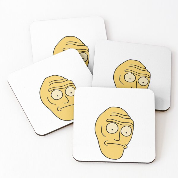 Cromulon Giant Head | Rick and Morty character Coasters (Set of 4)