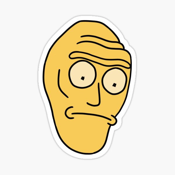 Cromulon Giant Head | Rick and Morty character Sticker