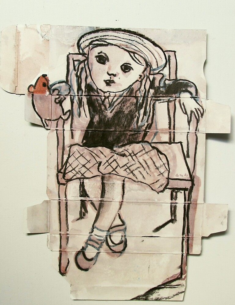little girl in box by donna malone