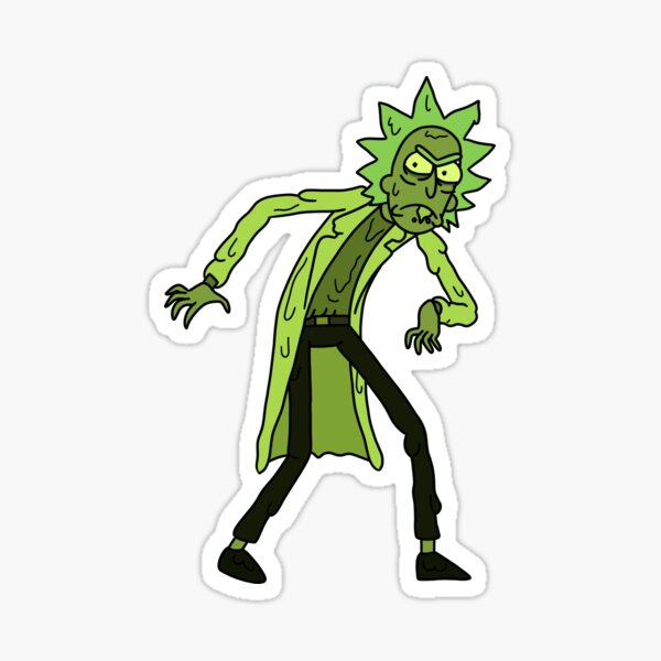 Toxic Rick | Rick and Morty character Sticker