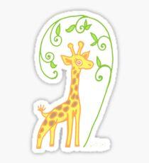 Giraffe with colour Sticker