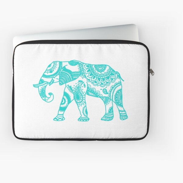 Patterned Elephant - Teal Laptop Sleeve