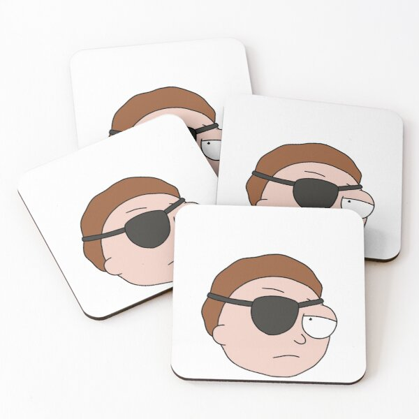 Evil Morty | Rick and Morty character Coasters (Set of 4)