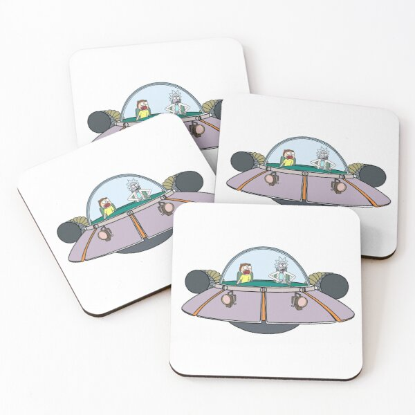 Rick and Morty in the spaceship | Rick and Morty Gadget Coasters (Set of 4)