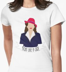 "P. Carter: ""Fight like a Girl."" Women's Fitted T-Shirt"