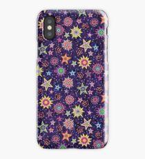 Folk Art Starry Sky psychodelic midnight iPhone Case